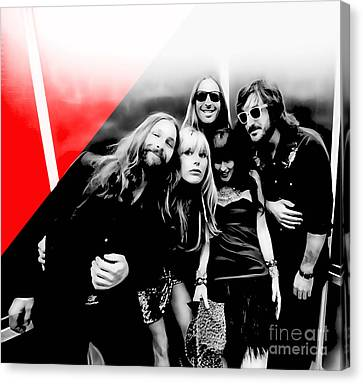 Grace Potter And The Nocturnals Collection Canvas Print by Marvin Blaine