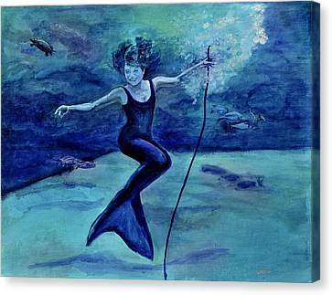Grace Under Water Canvas Print