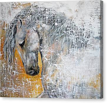 Abstract Horse Painting Graceful Beauty Canvas Print