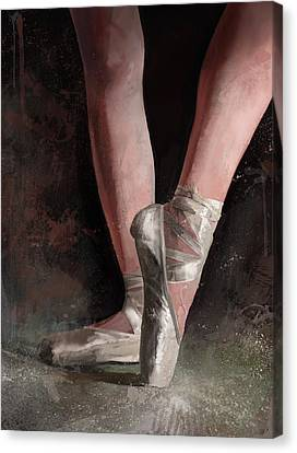 Canvas Print featuring the digital art Graceful Slippers by Steve Goad