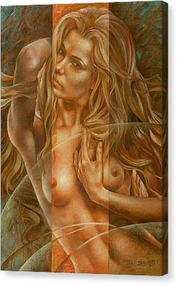 Figures Canvas Print - Gracia3 by Arthur Braginsky