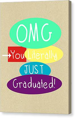 Custom Canvas Print - Graduation Card by Linda Woods