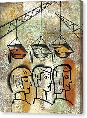 Graduation Canvas Print by Leon Zernitsky