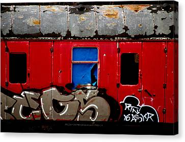 Graff Train Canvas Print