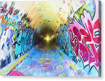 Graffiti Art 25 Canvas Print by Cindy Nunn