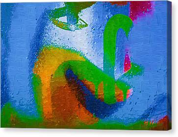 Graffiti Art 28 Canvas Print by Cindy Nunn