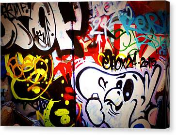 Graffiti Art 3 Canvas Print by Cindy Nunn