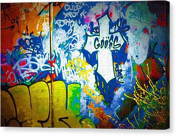 Graffiti Art 49 Canvas Print by Cindy Nunn