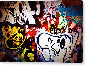 Graffiti Art 50 Canvas Print by Cindy Nunn