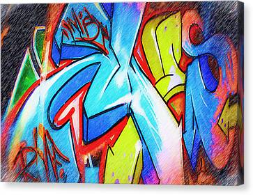 Graffiti Art 51 Canvas Print by Cindy Nunn