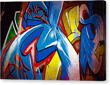 Graffiti Art 53 Canvas Print by Cindy Nunn