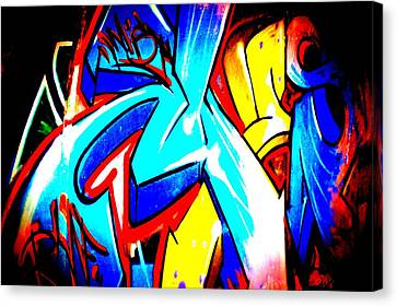 Graffiti Art 54 Canvas Print by Cindy Nunn