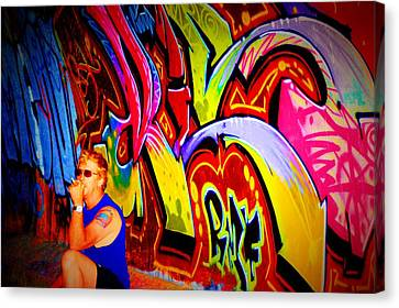 Graffiti Art 61 Canvas Print by Cindy Nunn