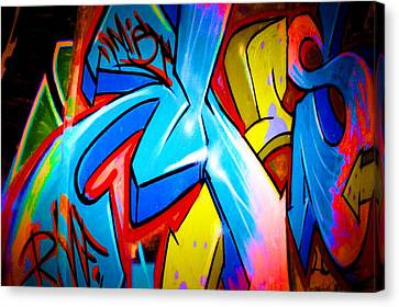 Graffiti Art 64 Canvas Print by Cindy Nunn