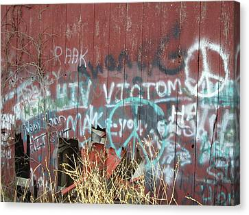 Canvas Print featuring the photograph Graffiti by Cynthia Lassiter