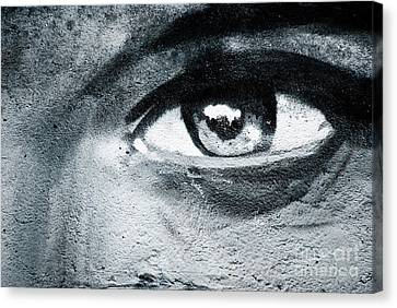 Canvas Print featuring the painting Graffiti Eye by Yurix Sardinelly