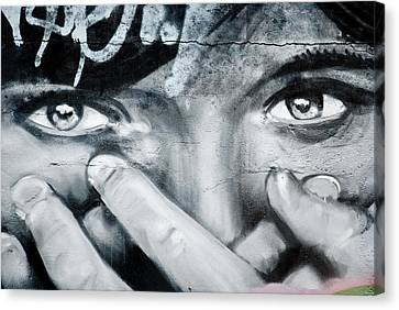 Graffiti Eyes Canvas Print