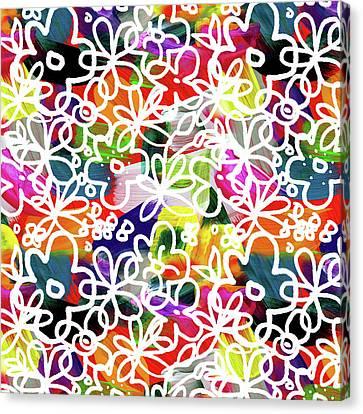Graffiti Garden 2- Art By Linda Woods Canvas Print by Linda Woods