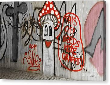 Graffiti Canvas Print by Jutta Maria Pusl