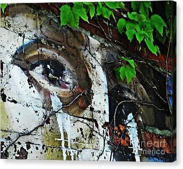 Designs On Face Canvas Print - Graffiti On West 107 Street by Sarah Loft