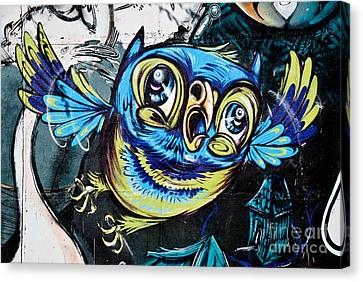 Graffiti Owl Canvas Print