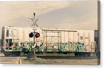 Graffiti Ride Canvas Print by Gina  Zhidov