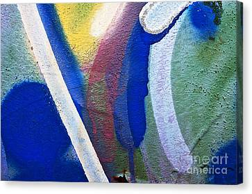 Graffiti Texture V Canvas Print by Ray Laskowitz - Printscapes