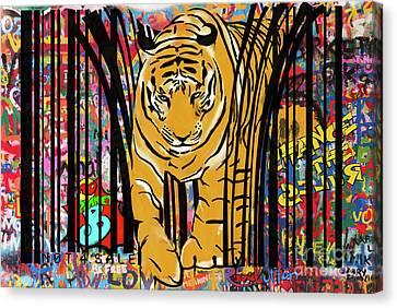 Canvas Print - Graffiti Tiger by Sassan Filsoof