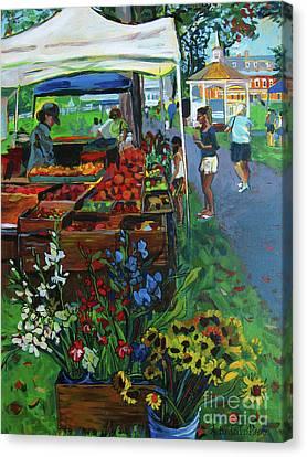 Grafton Farmer's Market Canvas Print by Allison Coelho Picone
