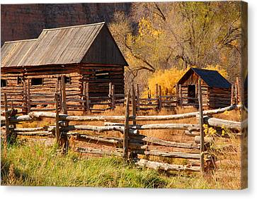 Grafton Homestead Canvas Print by Dennis Hammer