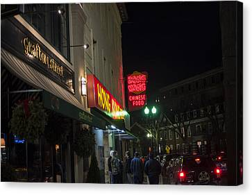 Grafton Street Pub And The Hong Kong In Harvard Square Cambridge Ma Canvas Print by Toby McGuire