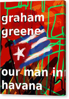 Graham Greene Poster  Canvas Print by Paul Sutcliffe