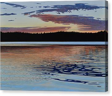 Canvas Print featuring the painting Graham Lake by Kenneth M Kirsch