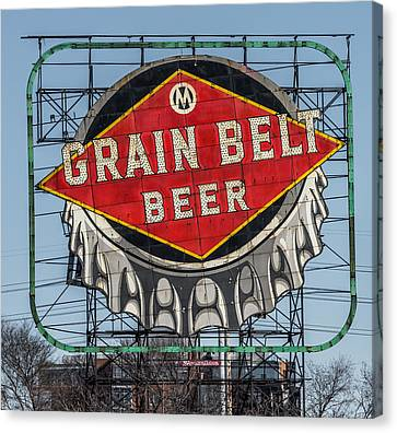 Grain Belt Beer Sign Canvas Print