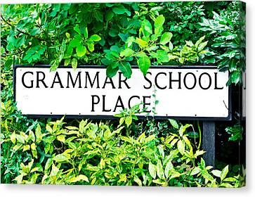 Grammer School Place Canvas Print by Tom Gowanlock