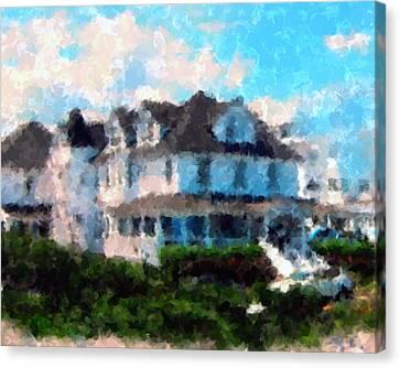 Gran Victorian Hotel Spring Lake Nj Canvas Print