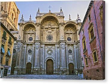 Granada Cathedral Canvas Print by Joan Carroll