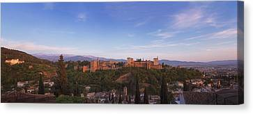 Alhambra Canvas Print - Granada Panorama by Joan Carroll