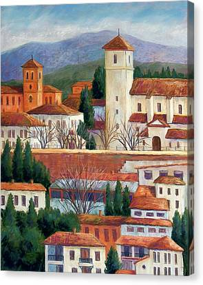 Granada View Canvas Print by Candy Mayer