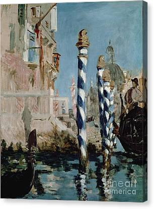 Venise Canvas Print - Grand Canal by Edouard Manet
