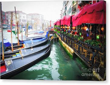 Grand Canal In Venice # 2 Canvas Print by Mel Steinhauer