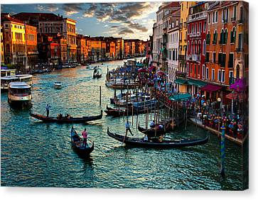 Grand Canal Sunset Canvas Print by Harry Spitz