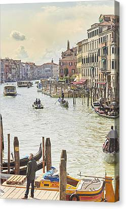 Grand Canal - The Most Famous Canal In Venice Canvas Print