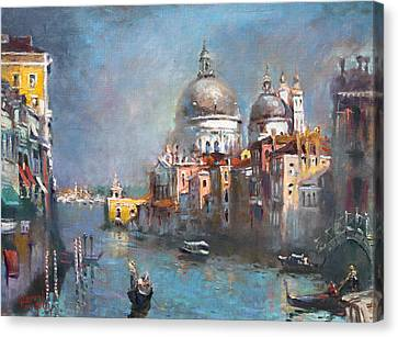 Grand Canal Canvas Print - Grand Canal Venice 2 by Ylli Haruni