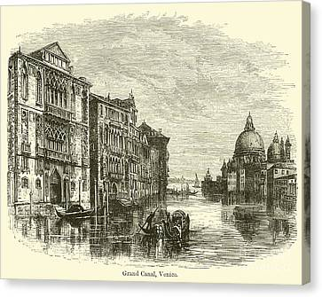 Grand Canal, Venice  Canvas Print by E Jennings