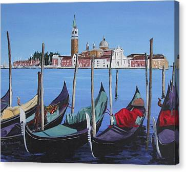 The Grand Place Canvas Print - Grand Canal Venice by Tony Gunning