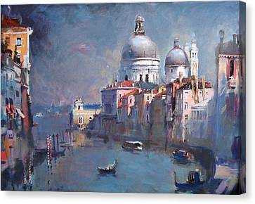 Grand Canal Venice Canvas Print by Ylli Haruni