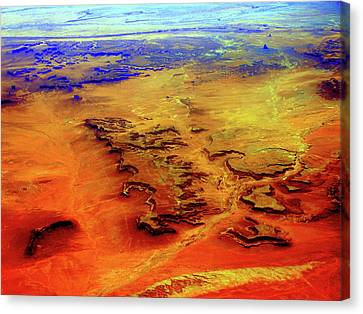Canvas Print featuring the photograph Grand Canyon 02 From 6mi Up by Irma BACKELANT GALLERIES