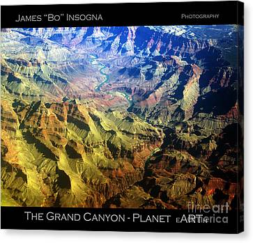 Southwest Canvas Print - Grand Canyon Aerial View by James BO  Insogna
