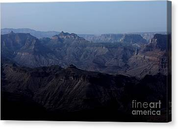 Grand Canyon At Dusk Canvas Print by Erica Hanel